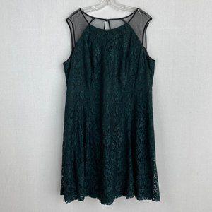 MICHEL STUDIO Green Lace Dress NWT